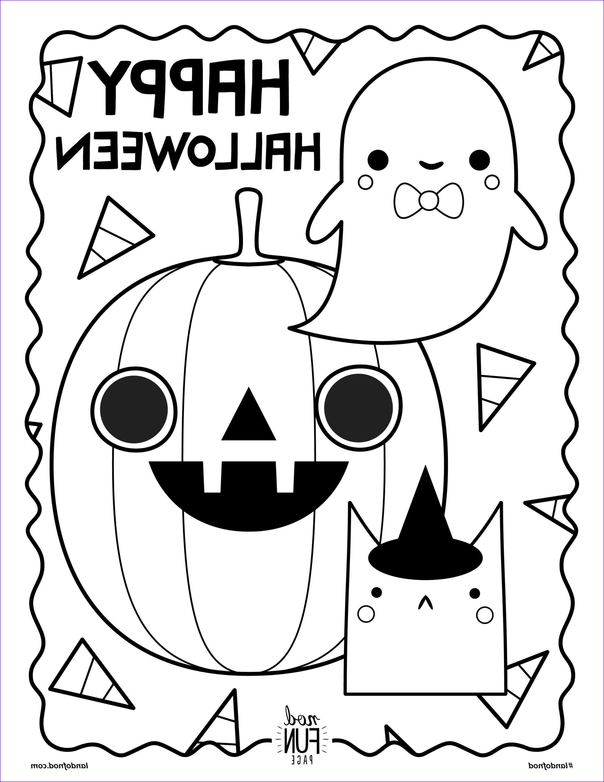 Fun Halloween Coloring Pages Cool Image Free Printable Halloween Coloring Page