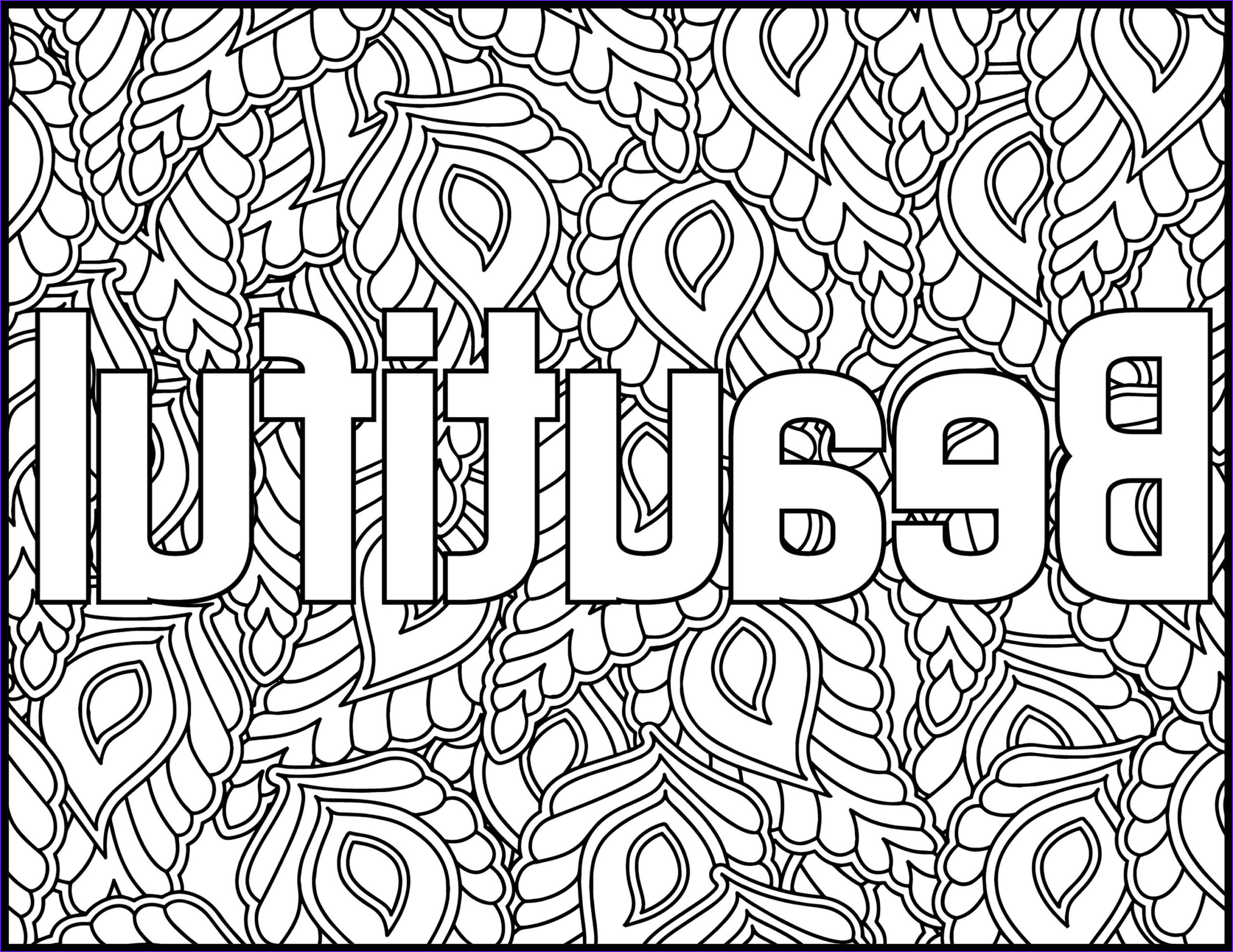 positive affirmations coloring pages for