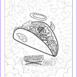 Funny Adult Coloring Pages Unique Stock Funny Taco Printable Pdf Adult Coloring Sheet Funny