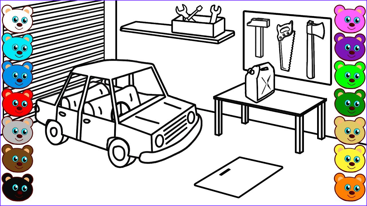Garage Coloring Best Of Collection Family Garage
