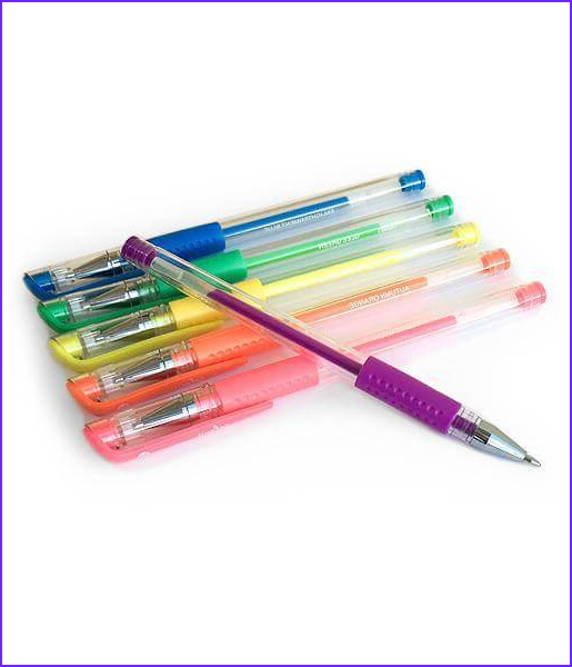 premium 48 gel pen set with case refills and box