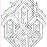 Geometric Coloring Books Cool Stock To Print This Free Coloring Page Coloring Op Art Jean
