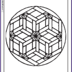 Geometric Coloring Pages Pdf Cool Photos Geometric Design Coloring Pages Flower Basket Pattern