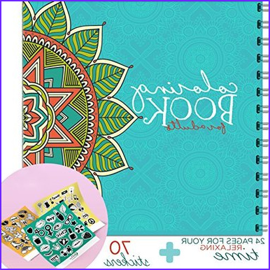 little big drop activity for adults coloring book jumbo books party favors coloring book for adults 24 pages to color 8x8 inches