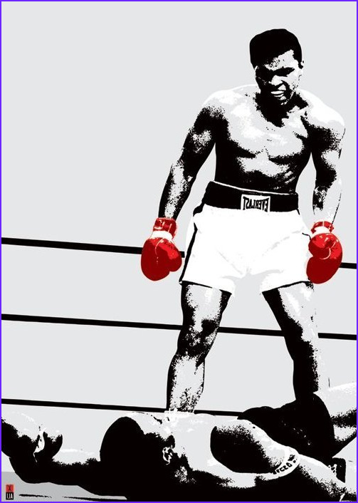 Giant Coloring Posters In Tubes Awesome Photos Muhammad Ali Pop Art Gloves Giant Paper Poster