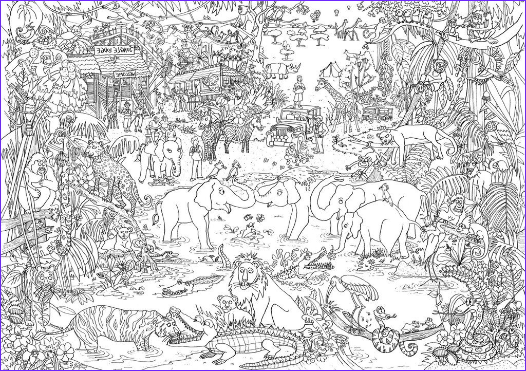 Giant Coloring Posters In Tubes Beautiful Stock Jungle Safari Colouring Poster – Reallygiantposters