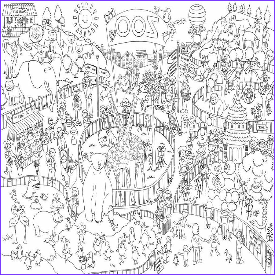 Giant Coloring Posters In Tubes Luxury Gallery Zoo Colouring In Poster by Really Giant Posters