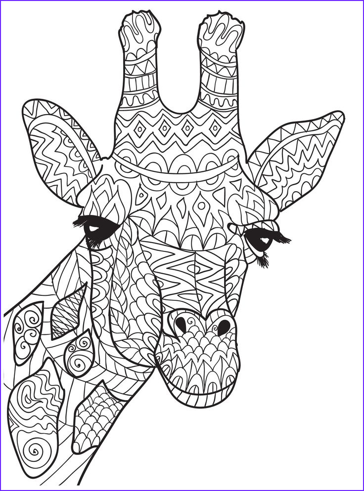 Giraffe Coloring Book Beautiful Stock Ten Adult Coloring for People who Love April the
