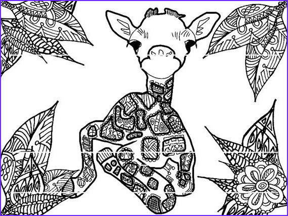 Giraffe Coloring Book Cool Photography Baby Giraffe Coloring Page by Strawberrycraft On Etsy