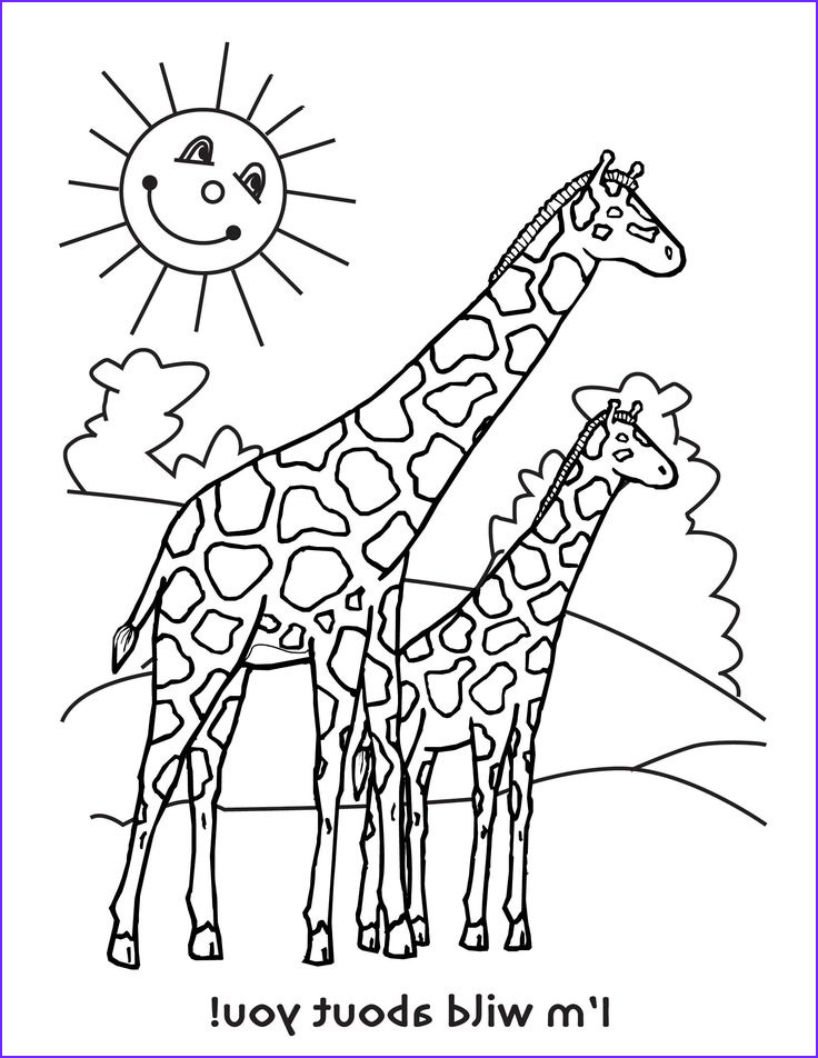 Giraffe Coloring Pictures Awesome Gallery 17 Best Coloring Pages Images On Pinterest