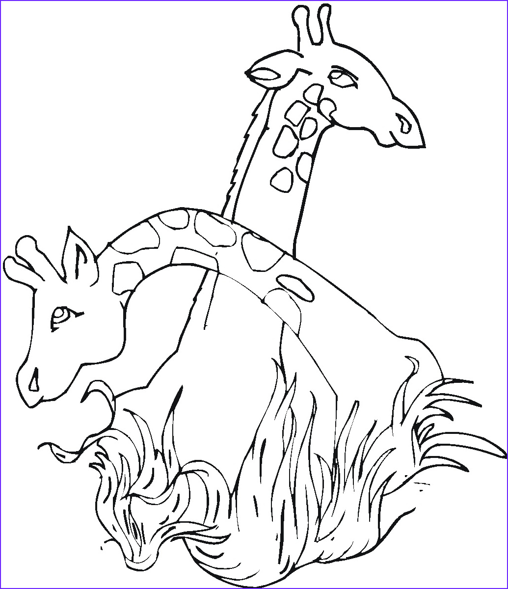 Giraffe Coloring Pictures Beautiful Photos Free Printable Giraffe Coloring Pages for Kids