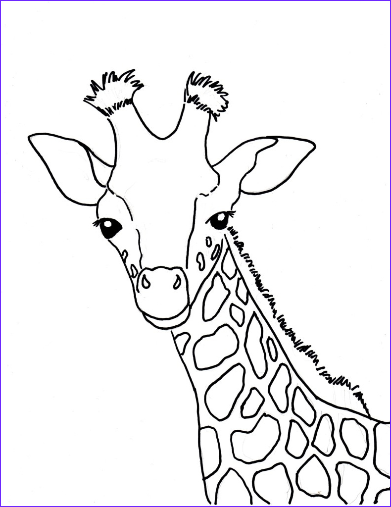 Giraffe Coloring Pictures Best Of Photos Baby Giraffe Coloring Page Art Starts for Kids