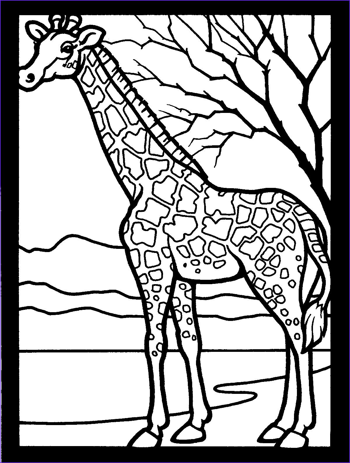 Giraffe Coloring Pictures Best Of Photos Free Printable Giraffe Coloring Pages for Kids