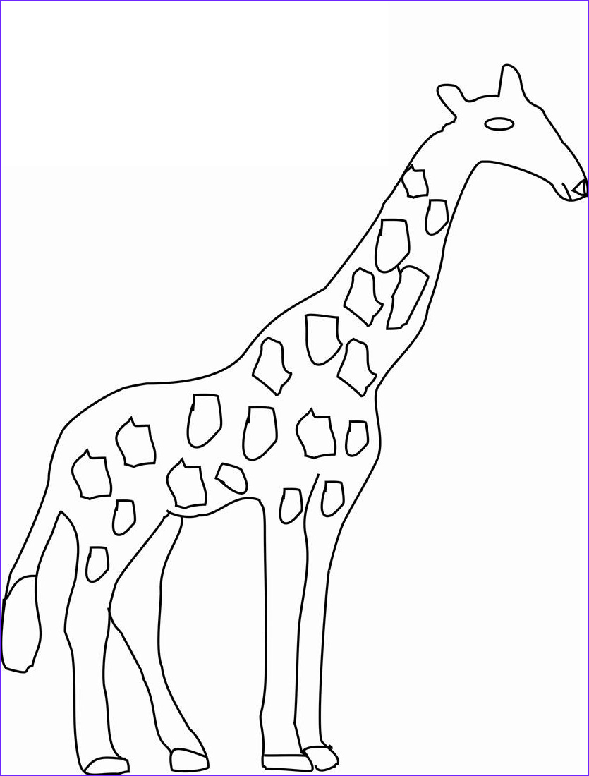 Giraffe Coloring Pictures Elegant Images Free Printable Giraffe Coloring Pages for Kids