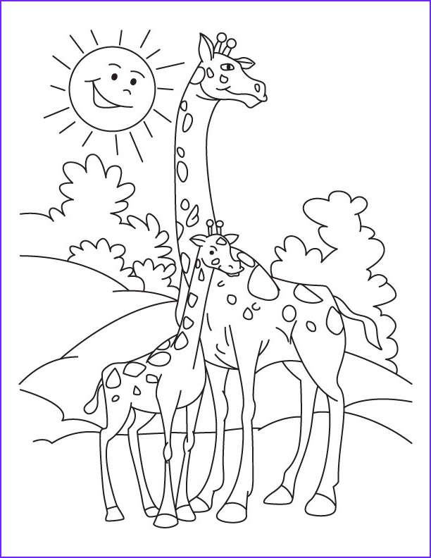 Giraffe Coloring Pictures Elegant Photos Giraffe Coloring Pages Bestofcoloring