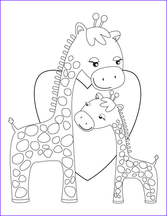 Giraffe Coloring Pictures Inspirational Image Baby Giraffe Coloring Pages Bestofcoloring