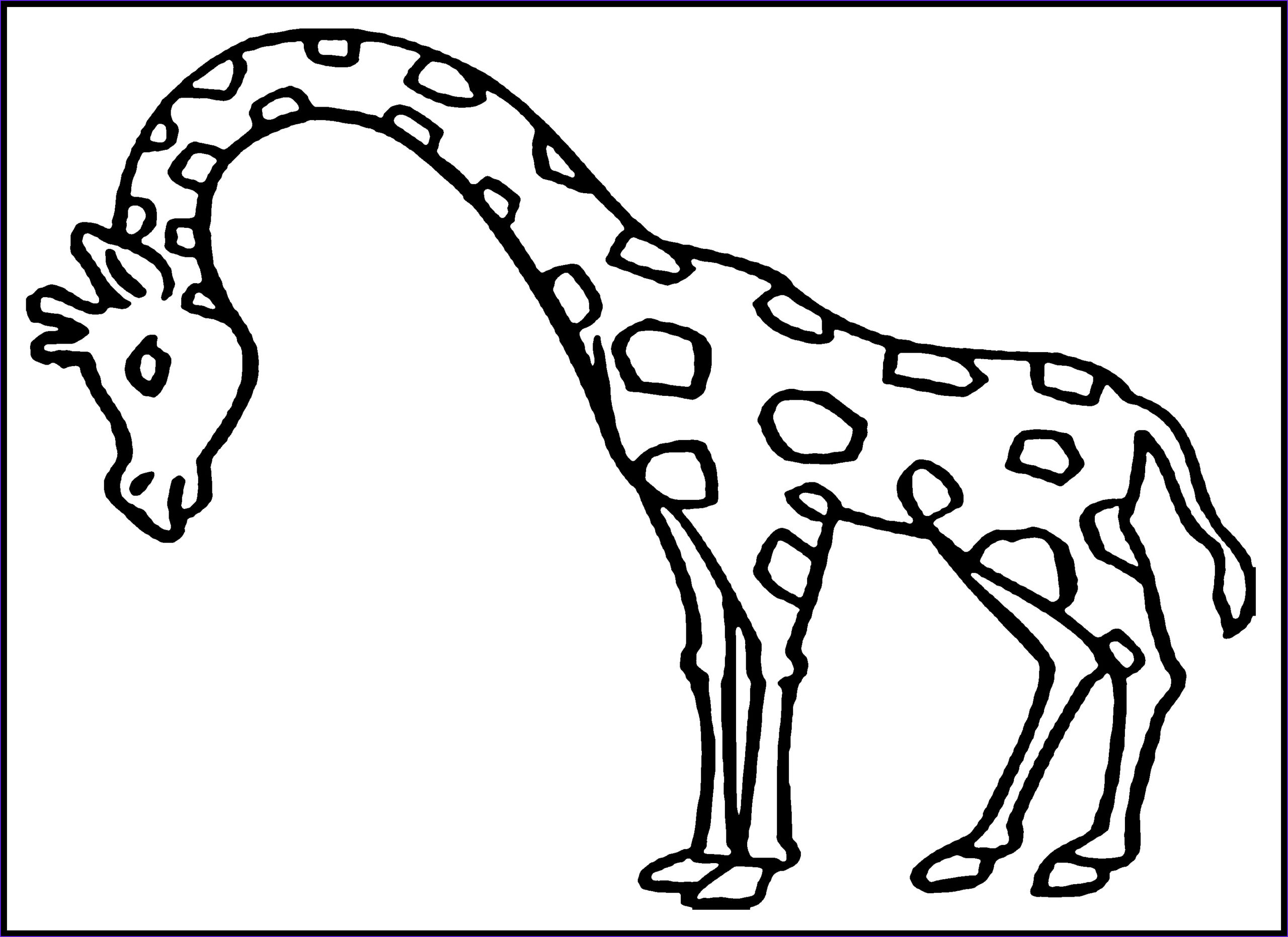 Giraffe Coloring Pictures Unique Collection Free Printable Giraffe Coloring Pages for Kids