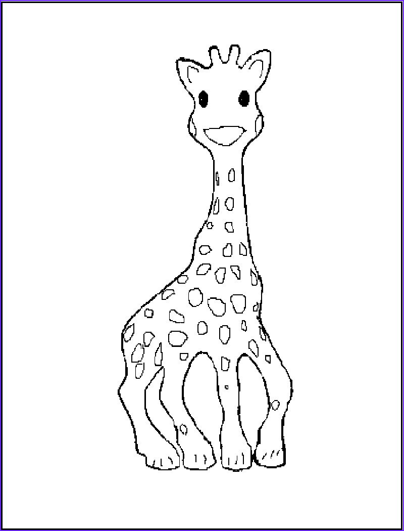 Giraffe Coloring Pictures Unique Photos Free Printable Giraffe Coloring Pages for Kids