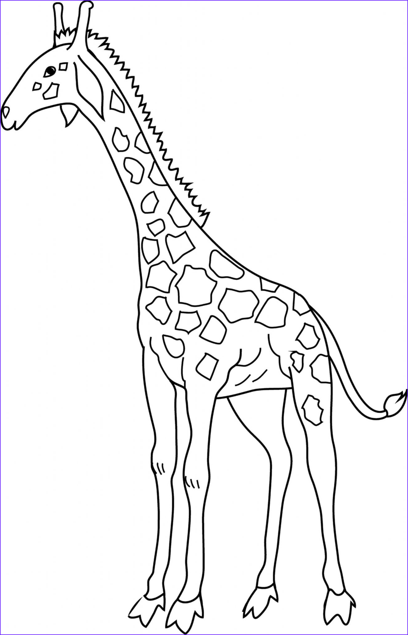 Giraffes Coloring Pages Beautiful Images Giraffe Coloring Pages for Kids to Have Fun – Best Apps