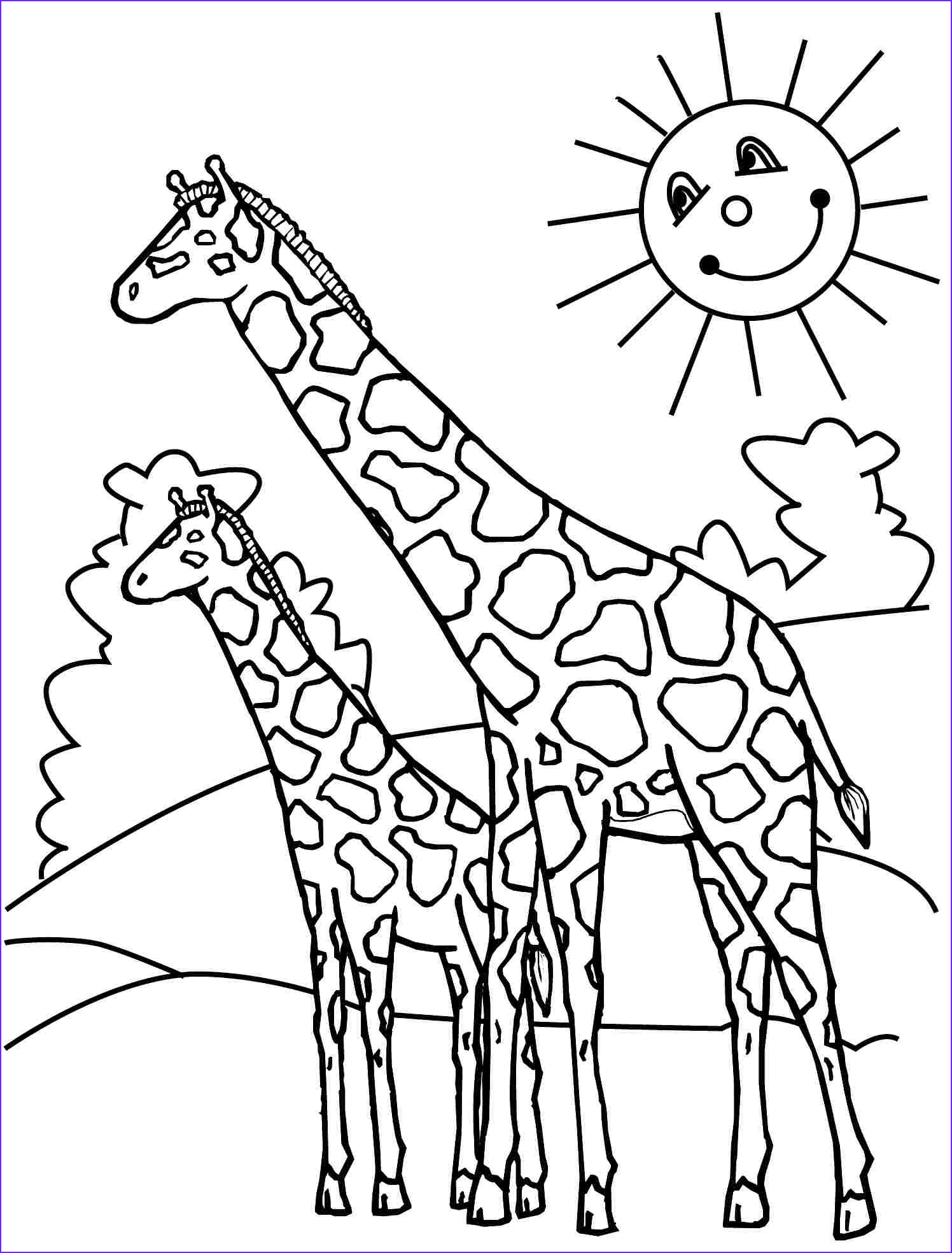 Giraffes Coloring Pages Beautiful Photography Giraffes Coloring Pages to and Print for Free