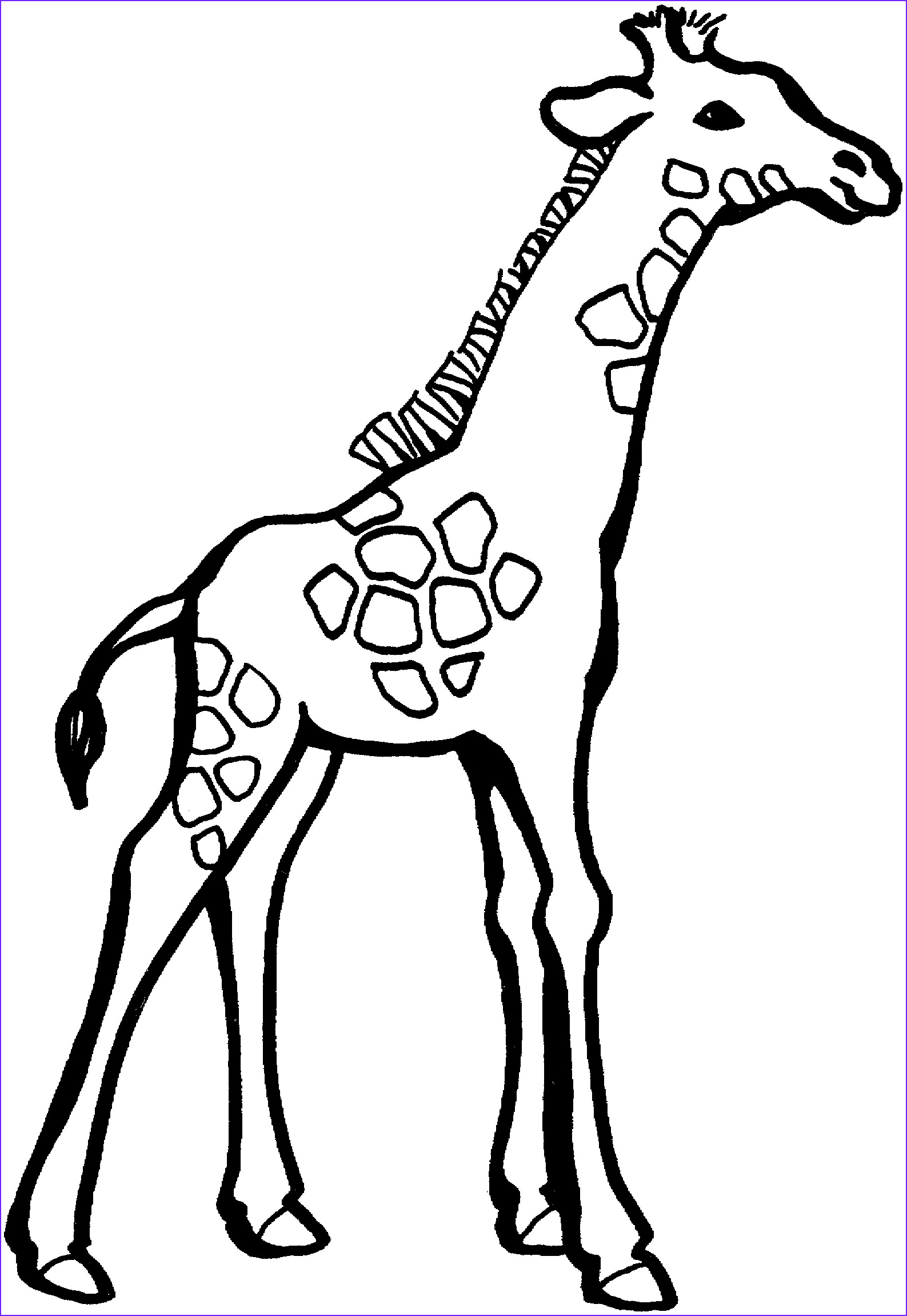 Giraffes Coloring Pages Best Of Gallery Free Printable Giraffe Coloring Pages for Kids