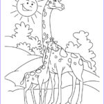 Giraffes Coloring Pages Unique Images Giraffe Coloring Pages Bestofcoloring