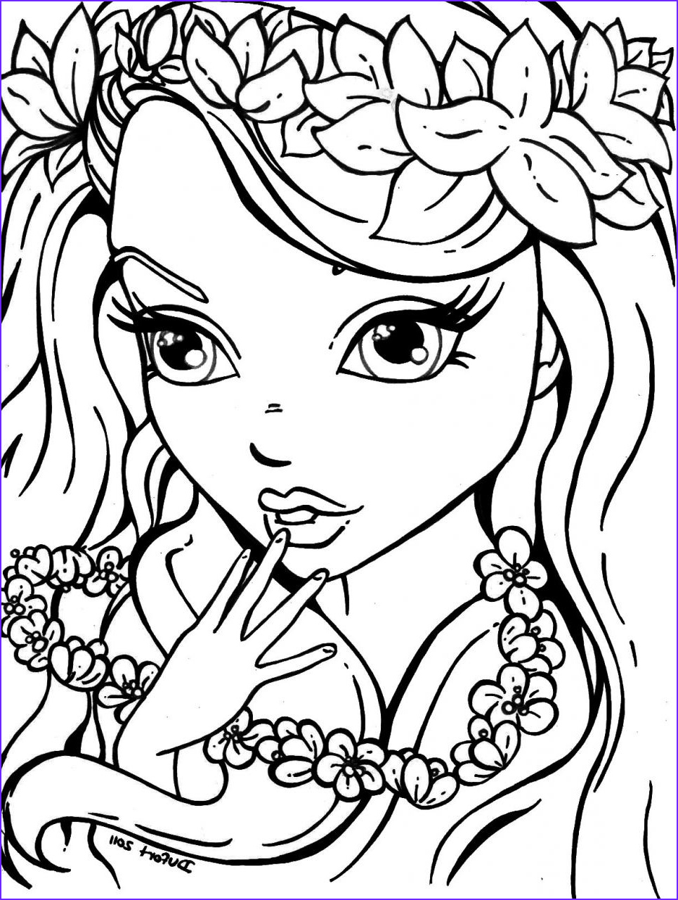 Girl Coloring Awesome Collection Coloring Pages for Girls Best Coloring Pages for Kids