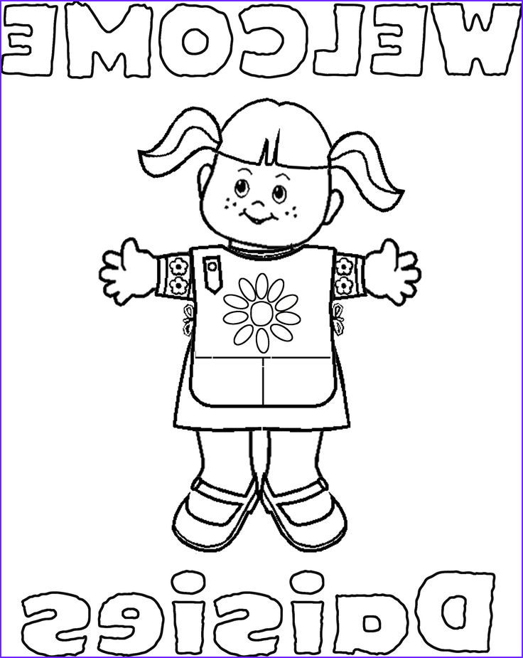 daisy girl scouts clip art coloring worksheets