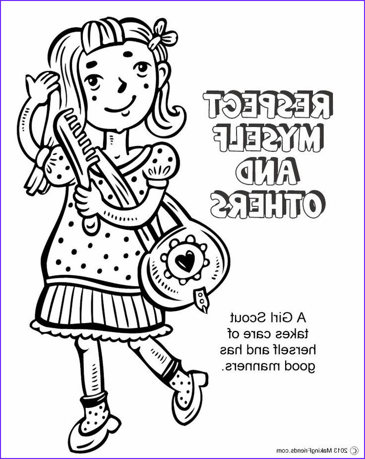 girl scout coloring pages