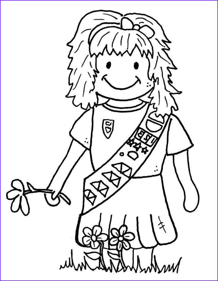 brownie girl scouts coloring pages