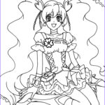 Girls Coloring Pages Beautiful Images Pretty Cure Anime Girls Coloring Pages For Kids Printable