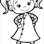 Girls Coloring Pages Elegant Photos Beautiful Cute Girl Coloring Page