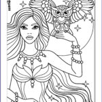 Girls Coloring Pages Luxury Stock Owl And Girl Coloring Page