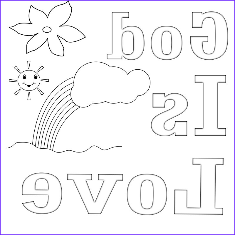 god is love coloring pages