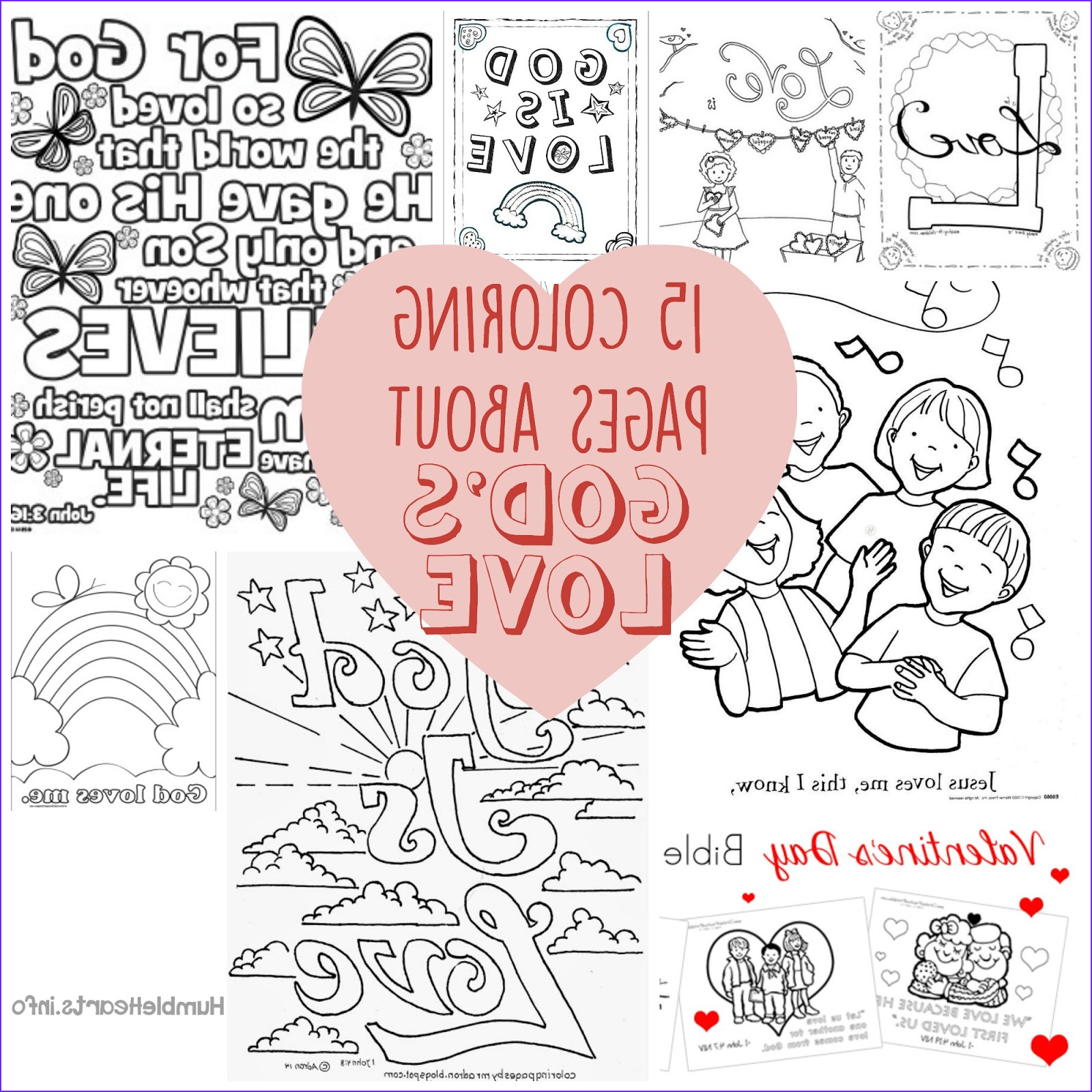 15 coloring pages about gods love short