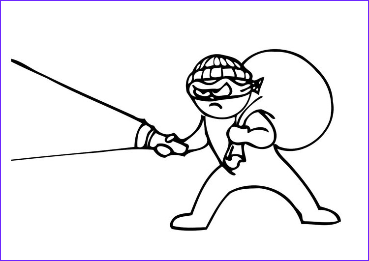 coloring page thief i