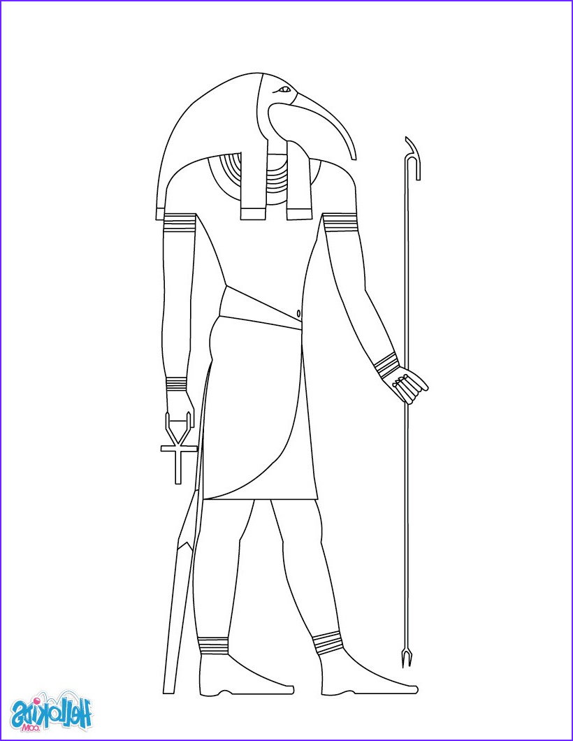 God's Creation Coloring Pages Best Of Photos Thot Egyptian Goddess & Gods Coloring Page