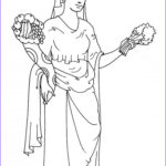 Goddess Coloring Book Awesome Image Goddess Demeter Coloring Pages Hellokids