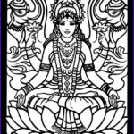 Goddess Coloring Book Awesome Photos Lakshmi Hindu Gods And Goddesses Stained Glass Coloring