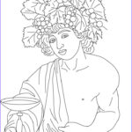 Goddess Coloring Book Beautiful Collection Dionysus Greek Goddess & Gods Coloring Page