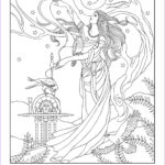 Goddess Coloring Book Cool Stock Goddess Coloring Page Frigg Norse