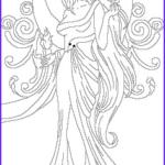 Goddess Coloring Book Inspirational Photos Beautiful Moon Goddess Or Lady With Fire And Swirls And A