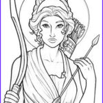 Goddess Coloring Book New Photos Artemis By Amy Clark Coloring Pages In 2019