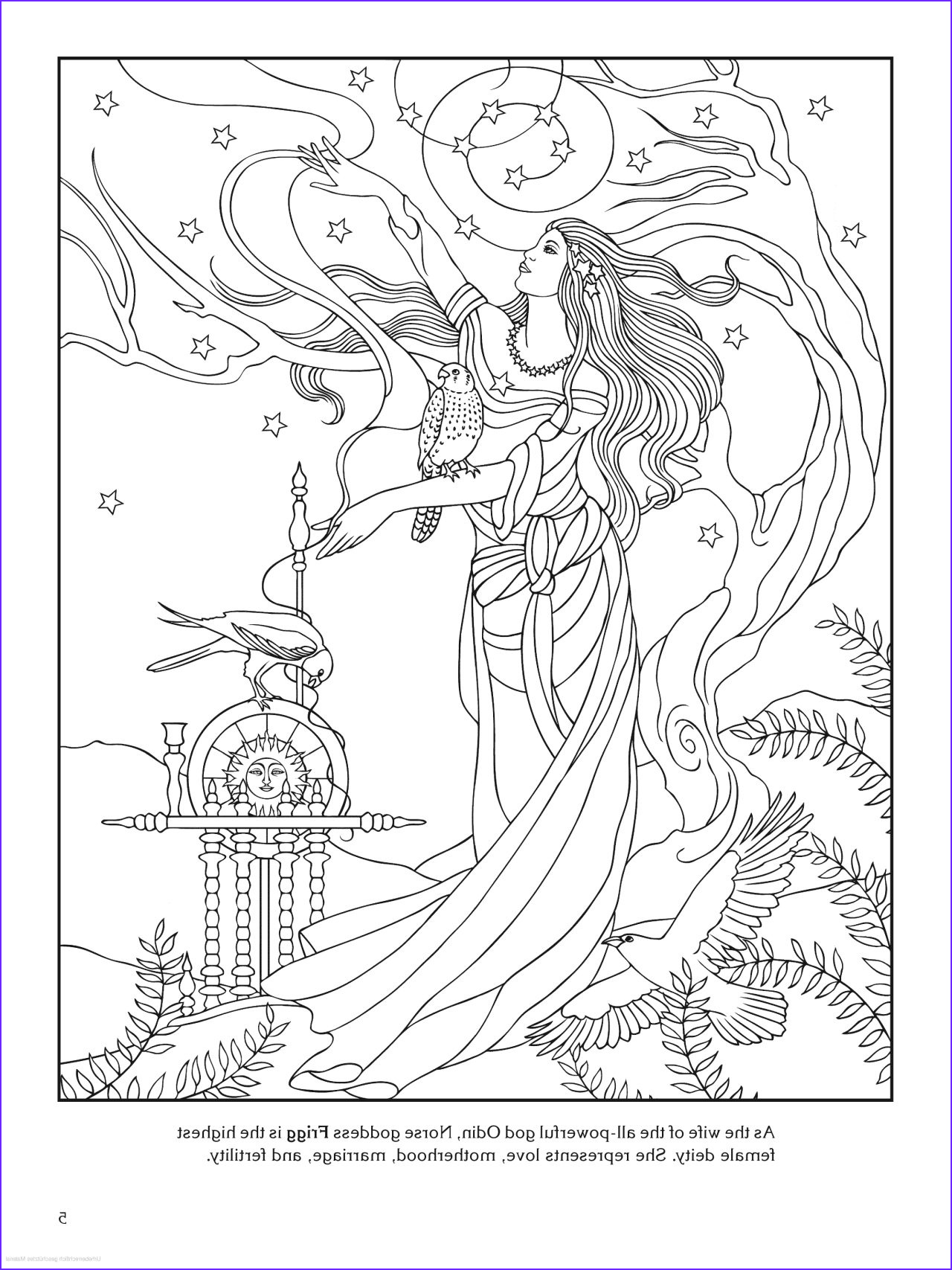Goddess Coloring Books Awesome Stock Goddess Coloring Page Frigg norse