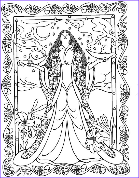 goddess coloring pages for adults