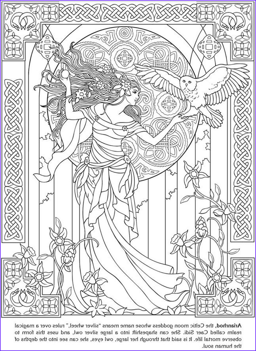 Goddess Coloring Books Elegant Photography Arianrhod Celtic Goddess Coloring Pages for Adults
