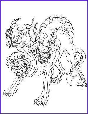 Goddess Coloring Books Unique Photography Greek Mythology Cerberus Guadian Hades From Greek