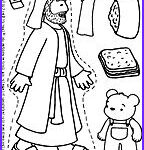 Good Samaritan Coloring Page Printable Elegant Collection Christian Crafts For Children Bible Story Puppets