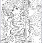 Gothic Coloring Book Awesome Gallery Gothic Dark Fantasy Coloring Book Fantasy Art Coloring