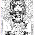 Gothic Coloring Book Cool Images Instant Download 5 Pages Gothic Angels Art Digital